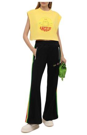 Женские брюки PALM ANGELS черного цвета, арт. PWCA058S21FAB0031084   Фото 2