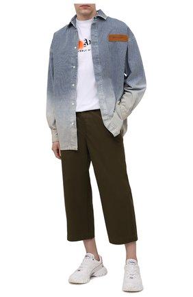 Мужская джинсовая рубашка PALM ANGELS темно-синего цвета, арт. PMYD010S21DEN0014560 | Фото 2