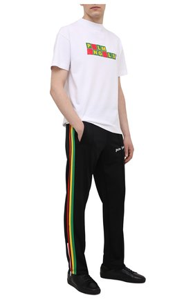 Мужские брюки PALM ANGELS черного цвета, арт. PMCA007S21FAB0061001 | Фото 2