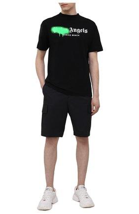Мужская хлопковая футболка PALM ANGELS черного цвета, арт. PMAA001S21JER0301070 | Фото 2