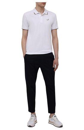 Мужские хлопковые брюки PREMIUM MOOD DENIM SUPERIOR темно-синего цвета, арт. S21 4176S/ALAN FREE | Фото 2