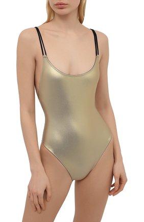 Женский слитный купальник GIANANTONIO PALADINI золотого цвета, арт. S13NI01/B | Фото 2