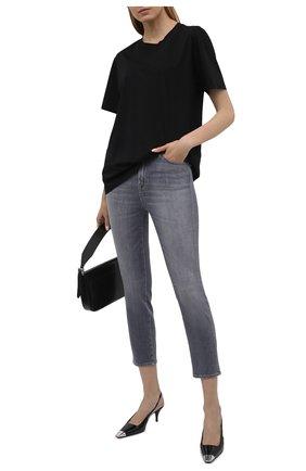 Женские джинсы 7 FOR ALL MANKIND серого цвета, арт. JSQAR880RE   Фото 2