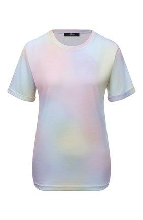 Женская футболка 7 FOR ALL MANKIND разноцветного цвета, арт. JSLL318EMU   Фото 1