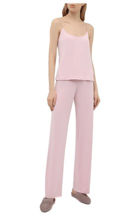 Женские брюки LA PERLA розового цвета, арт. 0043830/G249 | Фото 2