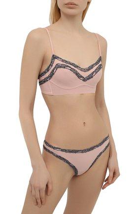 Женские трусы-слипы LA PERLA розового цвета, арт. 0051780 | Фото 2