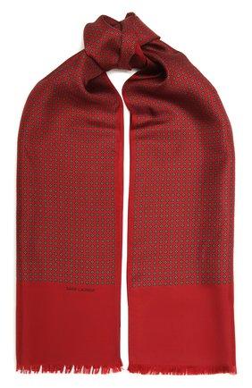 Женский шелковый шарф SAINT LAURENT красного цвета, арт. 660831/3Y001 | Фото 1