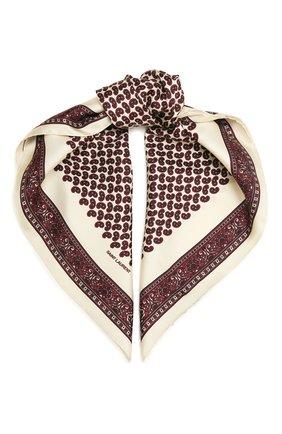 Женский шелковый платок SAINT LAURENT бордового цвета, арт. 660942/3Y001 | Фото 1