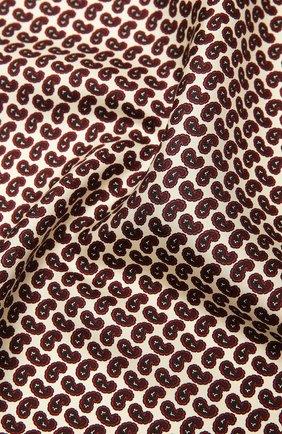 Женский шелковый платок SAINT LAURENT бордового цвета, арт. 660942/3Y001 | Фото 2