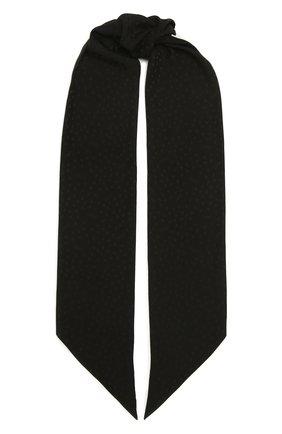 Женский шелковый шарф SAINT LAURENT черного цвета, арт. 661092/3Y011 | Фото 1
