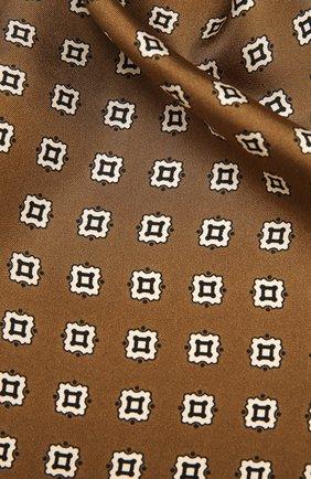 Женский шелковый шарф SAINT LAURENT хаки цвета, арт. 661792/3Y001 | Фото 2