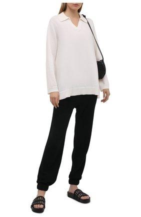 Женские кашемировые джоггеры FTC черного цвета, арт. 820-0650   Фото 2