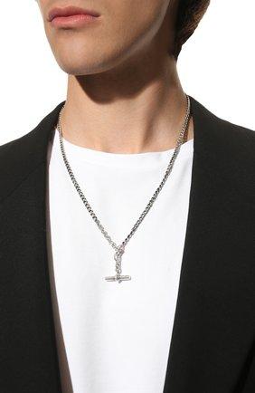 Серебряная цепь с кулоном | Фото №2