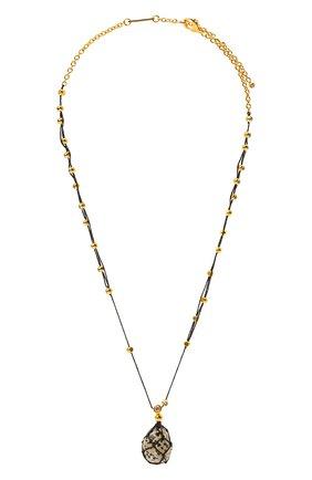 Женская кулон на цепочке BOTTEGA VENETA черного цвета, арт. 651098/VE3F2 | Фото 1 (Материал: Серебро)