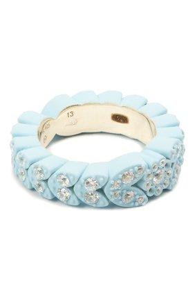 Женское кольцо BOTTEGA VENETA голубого цвета, арт. 657412/VB0BN | Фото 1