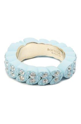 Женское кольцо BOTTEGA VENETA голубого цвета, арт. 657412/VB0BN | Фото 2