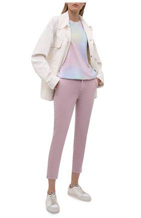 Женские брюки из хлопка и вискозы PAIGE розового цвета, арт. 6718G29-4699 | Фото 2