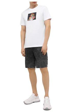 Мужская хлопковая футболка DIESEL белого цвета, арт. A01838/0HAYU | Фото 2