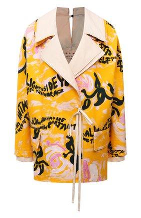 Женская хлопковая куртка MARNI разноцветного цвета, арт. GIJD0155U0/UTC001 | Фото 1