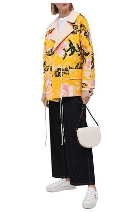 Женская хлопковая куртка MARNI разноцветного цвета, арт. GIJD0155U0/UTC001 | Фото 2