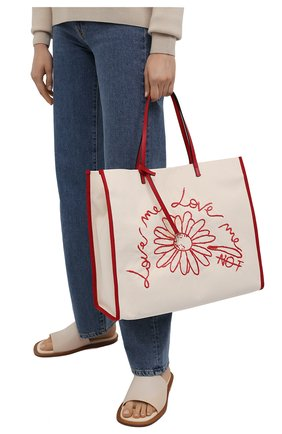 Женский сумка-шопер REDVALENTINO разноцветного цвета, арт. VQ0B0C07/PQV   Фото 2
