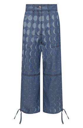 Женские джинсы loewe x paula's ibiza LOEWE голубого цвета, арт. S616Y04X09 | Фото 1 (Материал внешний: Хлопок, Деним; Стили: Кэжуэл; Длина (брюки, джинсы): Укороченные; Силуэт Ж (брюки и джинсы): Широкие; Кросс-КТ: Деним)
