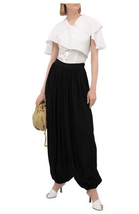 Женские хлопковые брюки loewe x paula's ibiza LOEWE черного цвета, арт. S616Y04X04 | Фото 2 (Силуэт Ж (брюки и джинсы): Широкие; Женское Кросс-КТ: Брюки-одежда; Стили: Спорт-шик; Длина (брюки, джинсы): Стандартные; Материал внешний: Хлопок)