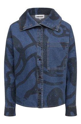Женская джинсовая рубашка KENZO синего цвета, арт. FB52DC2279H6 | Фото 1