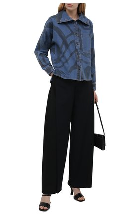 Женская джинсовая рубашка KENZO синего цвета, арт. FB52DC2279H6 | Фото 2