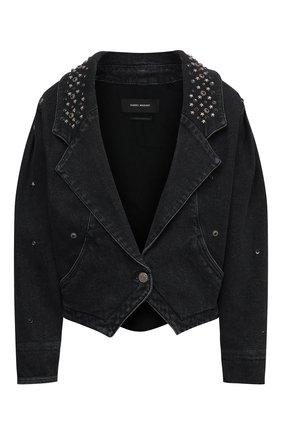 Женская джинсовая куртка ISABEL MARANT черного цвета, арт. VE1580-21E048I/DEPALINE | Фото 1