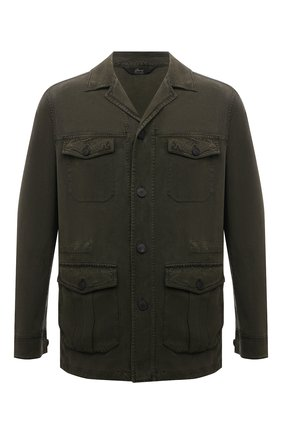 Мужская шелковая куртка BRIONI хаки цвета, арт. SFPE0L/P0T00 | Фото 1
