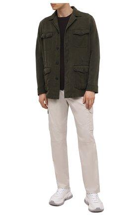 Мужская шелковая куртка BRIONI хаки цвета, арт. SFPE0L/P0T00 | Фото 2