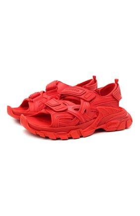 Женские текстильные сандалии track BALENCIAGA красного цвета, арт. 617543/W2CC1 | Фото 1