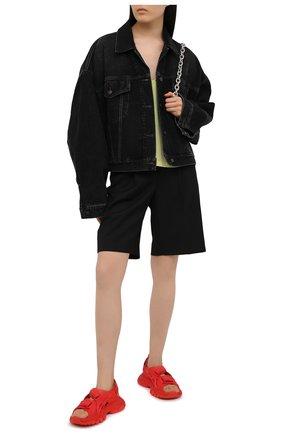 Женские текстильные сандалии track BALENCIAGA красного цвета, арт. 617543/W2CC1 | Фото 2