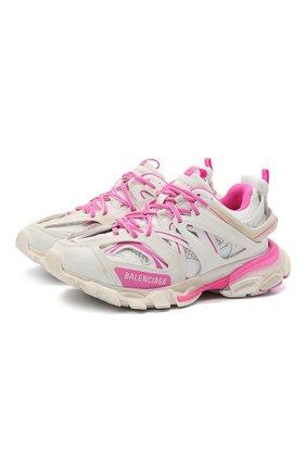 Женские комбинированные кроссовки track BALENCIAGA розового цвета, арт. 542436/W1GC3 | Фото 1