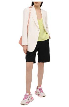 Женские комбинированные кроссовки track BALENCIAGA розового цвета, арт. 542436/W1GC3 | Фото 2