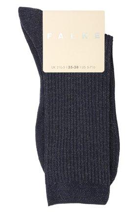 Женские носки FALKE синего цвета, арт. 46333 | Фото 1 (Материал внешний: Синтетический материал, Хлопок)