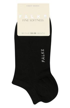 Женские носки FALKE черного цвета, арт. 46422 | Фото 1 (Материал внешний: Синтетический материал)