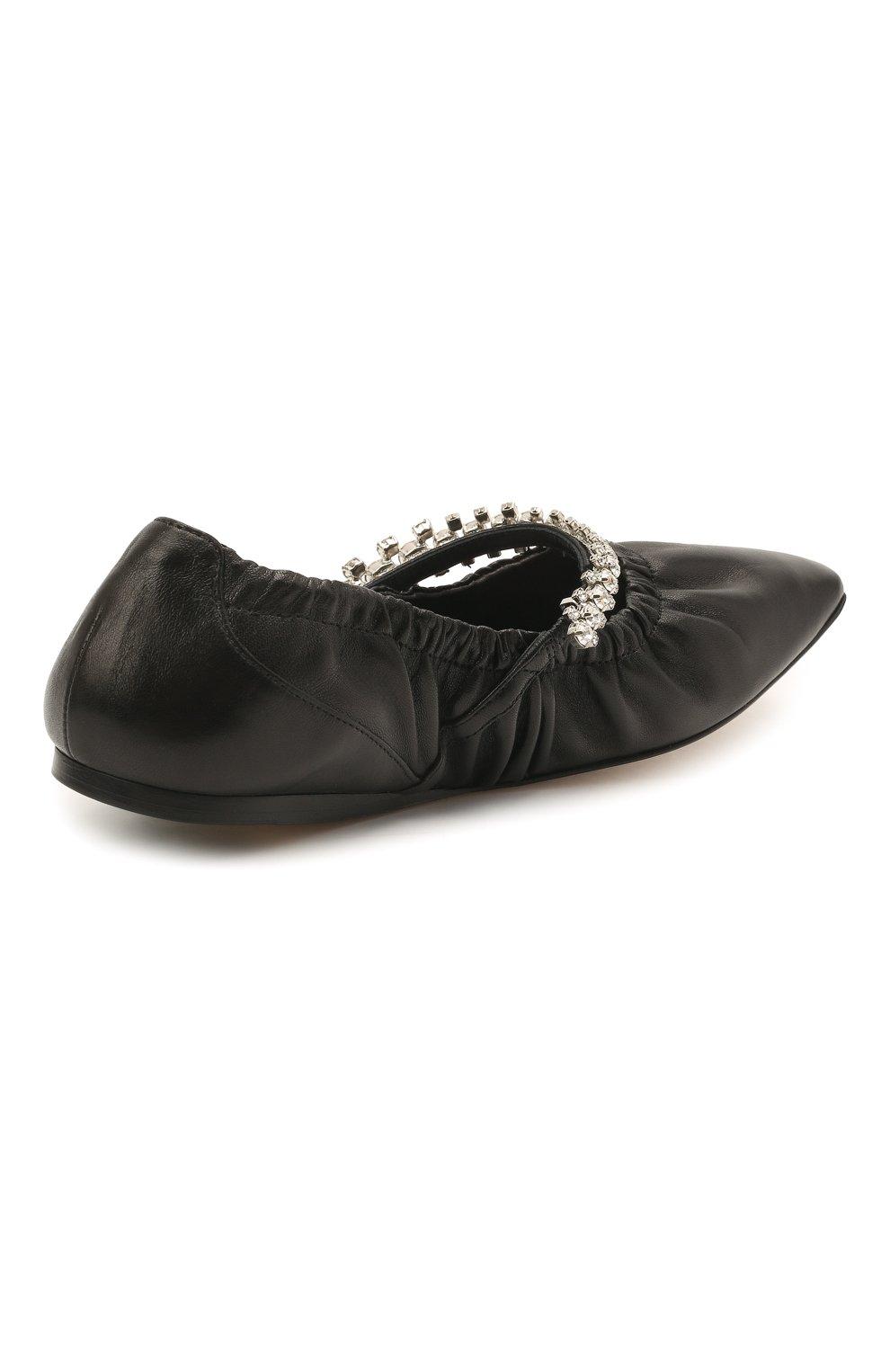 Женские кожаные балетки gai JIMMY CHOO черного цвета, арт. GAI FLAT/NAP | Фото 4