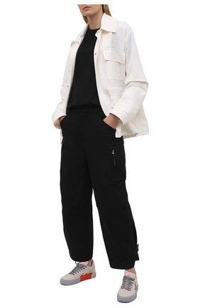 Женские текстильные кеды vulcanized OFF-WHITE бежевого цвета, арт. 0WIA178S21FAB0016109 | Фото 2