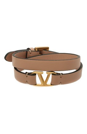 Женский кожаный браслет  VALENTINO бежевого цвета, арт. VW0J0C31/ZXL | Фото 1