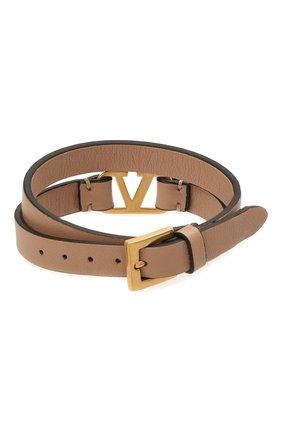 Женский кожаный браслет  VALENTINO бежевого цвета, арт. VW0J0C31/ZXL | Фото 2