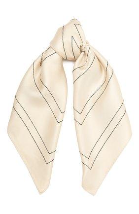 Женский шелковый платок TOTÊME бежевого цвета, арт. 212-873-803 | Фото 1