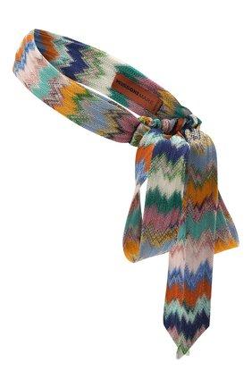 Женская повязка на голову MISSONI разноцветного цвета, арт. MMS00072/BR00E8 | Фото 2