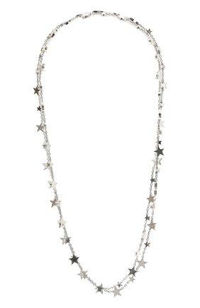 Женское колье BOTTEGA VENETA серебряного цвета, арт. 657373/V5070   Фото 1