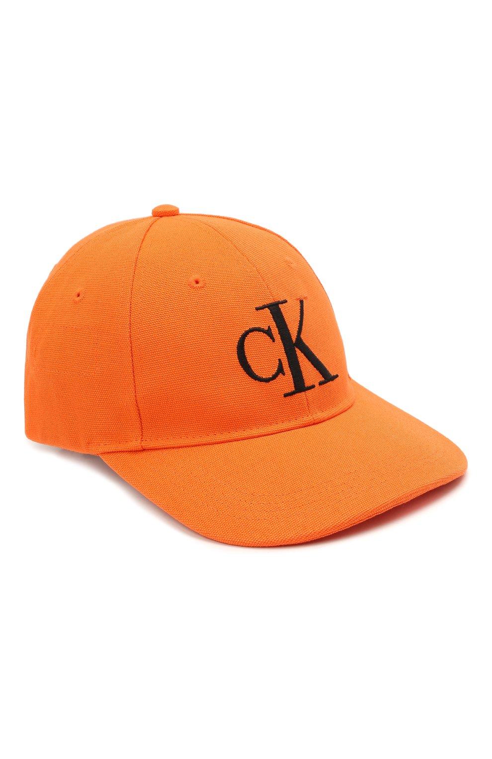 Женская хлопковая бейсболка HERON PRESTON FOR CALVIN KLEIN оранжевого цвета, арт. K50K508122   Фото 1