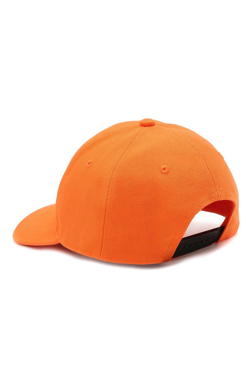 Женская хлопковая бейсболка HERON PRESTON FOR CALVIN KLEIN оранжевого цвета, арт. K50K508122   Фото 2