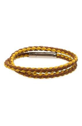 Мужской кожаный браслет TOD'S коричневого цвета, арт. XEMB1900200FLR   Фото 2