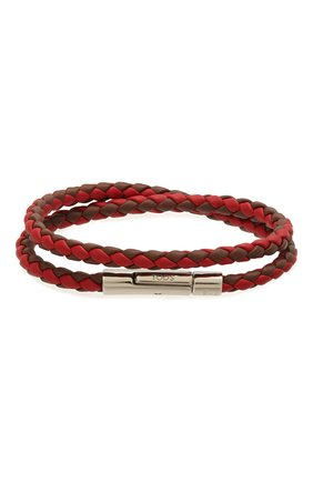 Мужской кожаный браслет TOD'S красного цвета, арт. XEMB1900200FLR | Фото 1