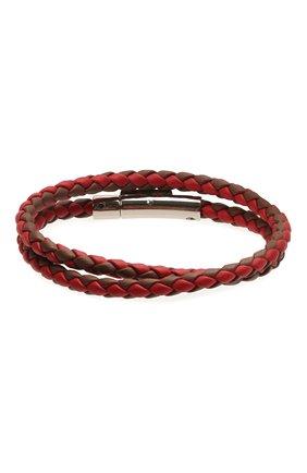 Мужской кожаный браслет TOD'S красного цвета, арт. XEMB1900200FLR | Фото 2